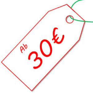 ab 30€ im Raum Karlsruhe